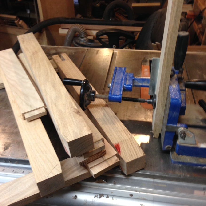 Working on tenons